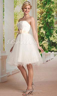 Bridesire brautkleider 2018 hochzeitskleider g nstig for Rotes brautkleid kurz