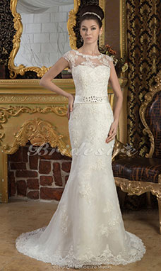 Brautkleid oben eng unten breit