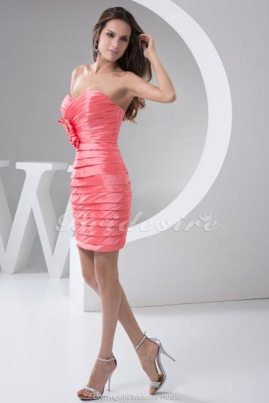 ccced688d23 ... Etui-Linie Herz-Ausschnitt Kurz Mini ärmellos Taft Kleid. previous.  images v 2013-06-10 WD4-910-1. images v 2013-06-10 WD4-910-2. ...