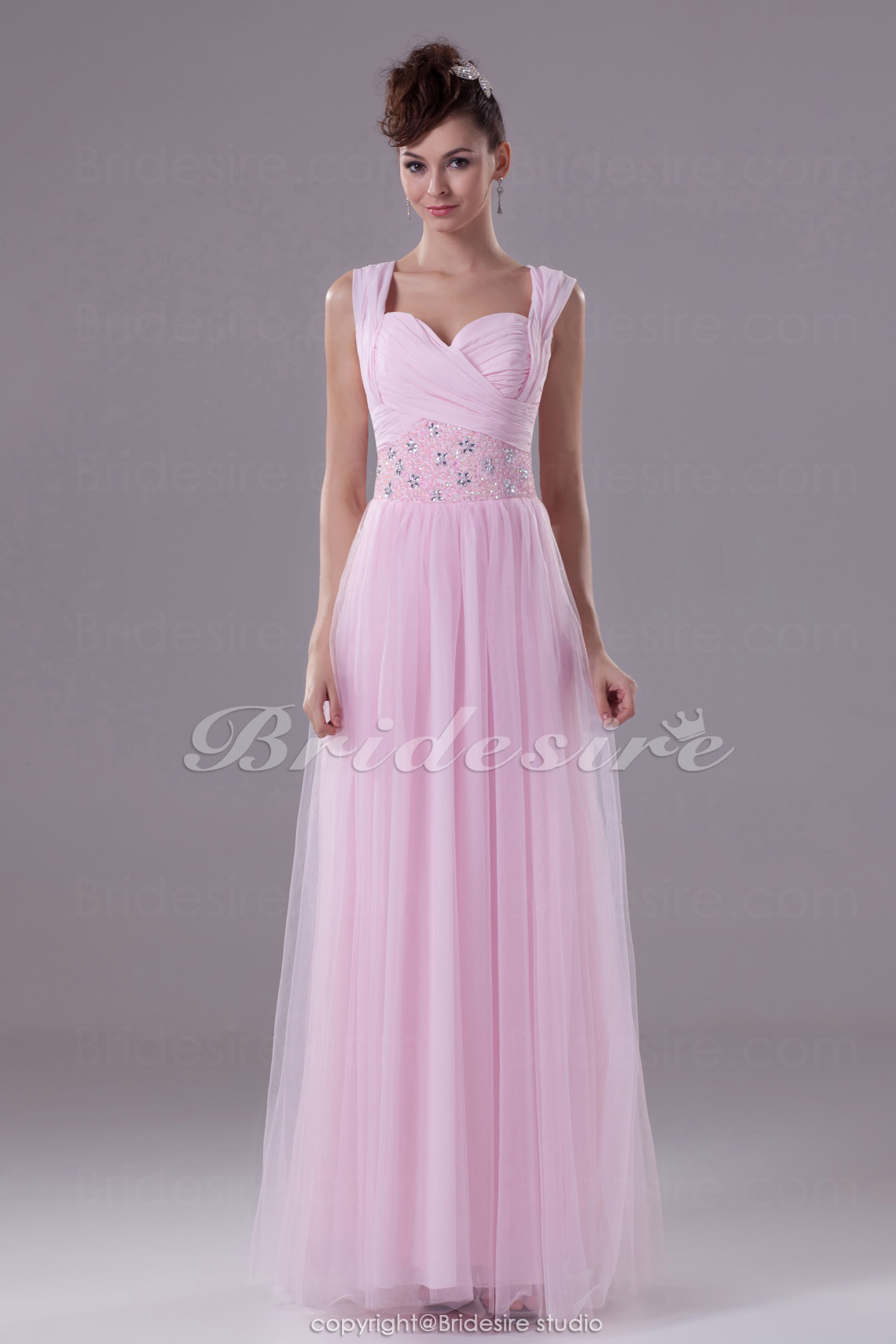 Sheath/Column Sweetheart Floor-length Sleeveless Chiffon Tulle D