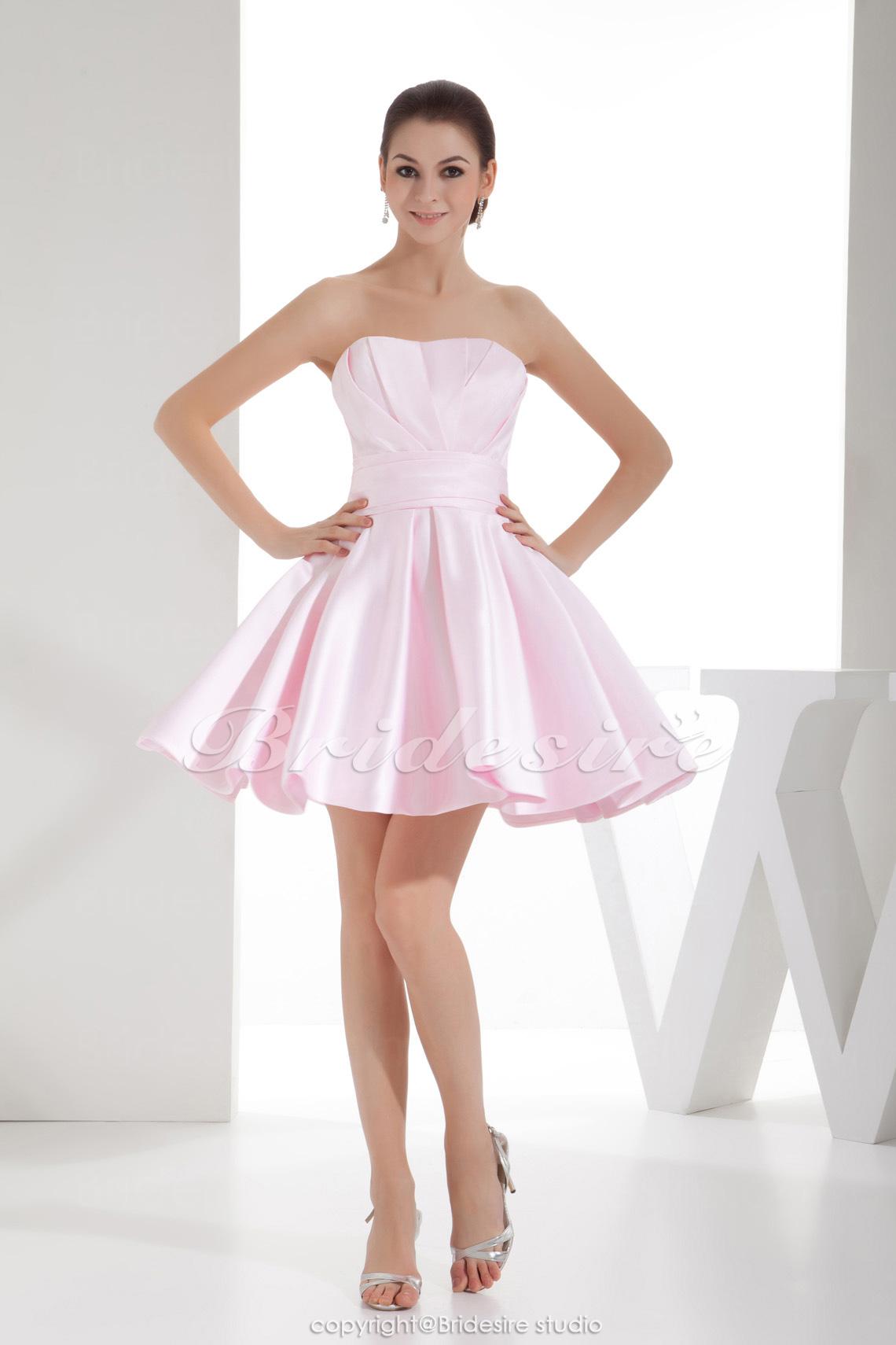 Bridesire - A-Linie trägerloser Ausschnitt Kurz/Mini ärmellos